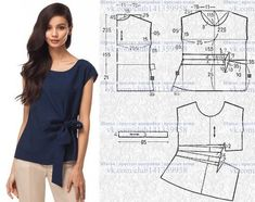 Amazing Sewing Patterns Clone Your Clothes Ideas. Enchanting Sewing Patterns Clone Your Clothes Ideas. Dress Sewing Patterns, Blouse Patterns, Vintage Sewing Patterns, Clothing Patterns, Blouse Designs, Skirt Pattern Free, Top Pattern, Make Your Own Clothes, Diy Clothes