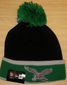 fac4352e3dd Philadelphia Eagles Throwback NFL Football New Era Logo Cuffed Knit Hat