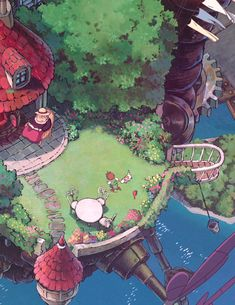 life in the egghouse✧* — howl's moving castle ハウルの動く城 [ 2004 . Studio Ghibli Art, Studio Ghibli Movies, Aesthetic Anime, Aesthetic Art, Howls Moving Castle Wallpaper, Personajes Studio Ghibli, Studio Ghibli Background, Howl And Sophie, Image Manga