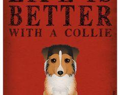 Artículos similares a La vida es mejor con una impresión de arte Pug 11 x 14 - Custom perro Print en Etsy