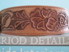 vintage Ralph Lauren Hand Tooled Leather Belt by watercolorstory, $125.00