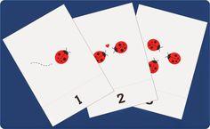 kartu belajar berhitung angka 1-10 untuk anak balita/TK, flash card lucu
