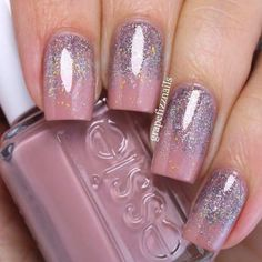 Elegant Glitter Ombre With Light Mauve Nail Polish ★ Beautiful mauve color nailart ideas for your manicures inspiration. Create your exclusive nails pallete with all shades of mallow colour. Mauve Nail Polish, Mauve Nails, Nail Polish Colors, Glitter Nails, Fun Nails, Color Nails, Dark Nails With Glitter, Acrylic Nails For Summer Glitter, Dark Pink Nails