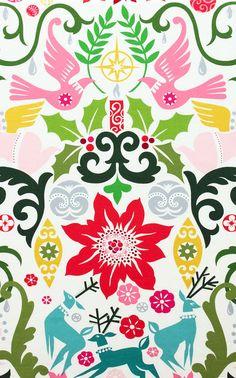 Joy Christmas Fabric by Alexander Henry  Multi by thestockroom, $9.75