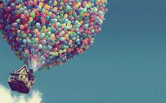 balloons, beautiful, dreams, house, photography, sky