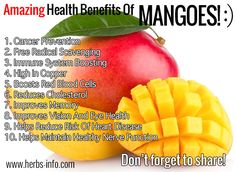 Check out this amazing list of the potential health benefits of mangoes, as reported by the latest scientific research!