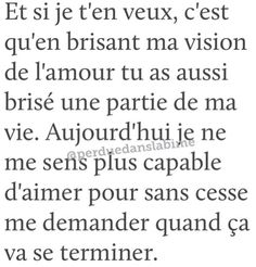 Je ten veux tu as tout gâcher - Sad Quotes, Best Quotes, Love Quotes, Motivational Quotes, The Words, French Quotes, Bad Mood, Pretty Words, Islamic Quotes