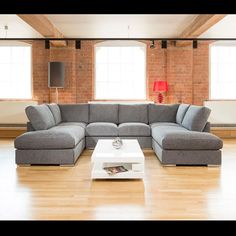 Gala large settee corner U shape grey 3.3 metre x 2.1 metre. Call 02476 642139 or email sales@quatropi.com or visit www.quatropi.com for additional information.