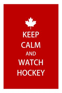 A funny hande made gay themed  KEEP CALM and WATCH HOCKEY greeting  by SLANTEDmind, $5.99