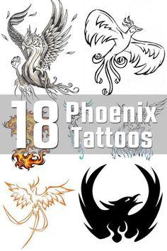 18 Phoenix Tattoo Designs