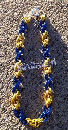 School Spirit Double Spiral Chainmail Bracelet! | Linkdbylori - Jewelry on ArtFire