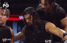 Big Sexy doesn't need a pep talk Seth, he's always ready. Roman Reigns Shirtless, Roman Reigns Gif, Roman Reigns Dean Ambrose, Wwe Dean Ambrose, Wwe Gifs, First Spear, Roman Regins, Wwe Superstar Roman Reigns, The Shield Wwe