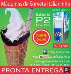 Máquina de #Sorvete #Italianinha P2 - Vendas Online www.grupoitalianinha.com.br