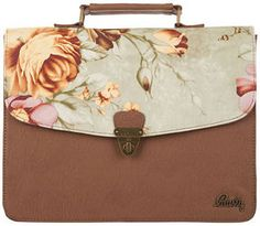 Rusty Butterfly Handbag - LOVE the tapestry print. Available from: http://shpst.ly/au435112559?pid=uid7721-8612939-65 #flower #floral #style #fashion #bag #handbag #cute #love #girly #tapestry #brown #grey #peach