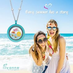 Who is your BFF and what is your story? Create matching friendship lockets with your personal stories within. www.lilyannedesigns.com.au/brendadundass