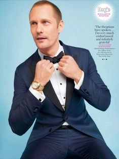 NEW photo of Alexander Skarsgård by photographer Ari Michelson. (People magazine exclusive - People's Red Carpet Style 2018 issue (February 2018). Thanks to Ari & Maryn for your help!  See Ari's 2 previous SAG Awards photos of Alex from People...