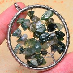 NATURAL-MOSS-AGATE-GEMSTONE-2-1-8-TREE-OF-LIFE-WIRE-WRAP-PENDANT