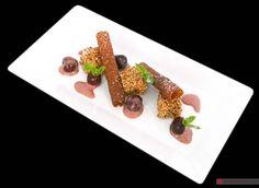 Ristorante Da Achille - Sant' Antioco (CI) / Croccantino alla nocciola e ciliegie al carignano