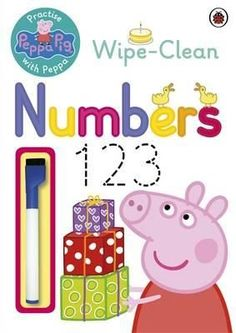 This book helps you practise your numbers with Peppa.