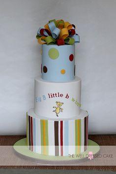 Dr. Seuss ABC Baby Shower Cake