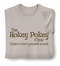 "Kindergarten therapy.....haha! I am going to start calling my ""think about it spot"" the Hokey Pokey Clinic! :)"