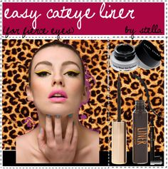 """easy cateye liner"" by the-amazing-tip-chickas on Polyvore"