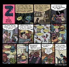 Quadrinhos de Raphael Salimena que usei para ilustrar um texto meu #vampiros #zumbis http://brontops.blogspot.com.br/2012/09/onirogrito.html #brontops