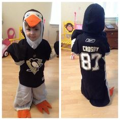 Sidney Crosby Pittsburgh Penguins hockey Halloween costume.. my kids gonna be this for halloween