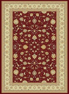 Noble Art 6529/391 - Red/Cream - Rugs and Runners- CIRCLES AVAILABLE- Buy Online at Rugs Direct 2U