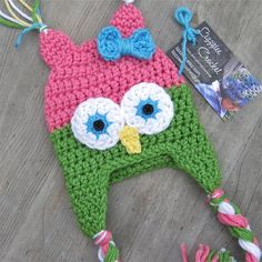 Little Owl Crochet Hat Pattern PDF - Easy, 6 sizes - beanie, earflap - Newborn baby kids toddler- Instant Digital Download on Etsy, $3.99