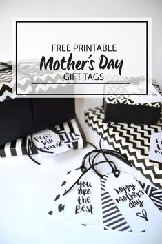FREE PRINTABLE MOTHER´S DAY GIFT TAGS | MISSGLAMURAL Happy Mothers, Mother Day Gifts, Gift Tags, Free Printables, Handmade, Diy, Truths, Free Printable, Hole Punch