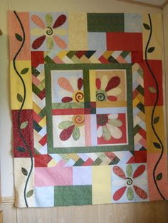 quilt on quilting board.