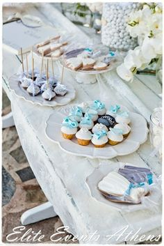 Stunning dessert table at a Shabby Chic Wedding.  See more party ideas at CatchMyParty.com.  #tweddingideas