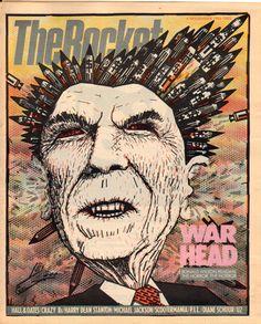 The Rocket, November 1984.   Illustration: Carl Smool, art director: Robert Newman