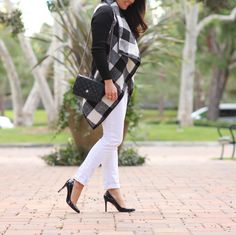 Plaid belted coat StylishPetite.com