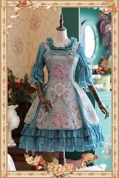 Infanta -Windsor's Afternoon Tea- Embroidery Lolita JSK + Long Petticoat Set