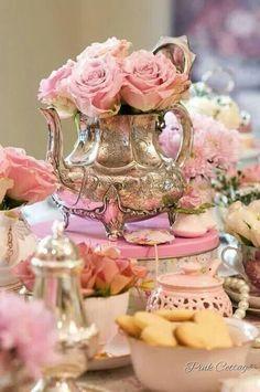 .Lovely use for an extra tea pot.