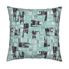"""Spoonflower Cubist Cat Design Challenge 2015  Congratulations  to the rest of the designers in the top 10!  """"Cat Mint by mag-o'/By Angela Stevens"""