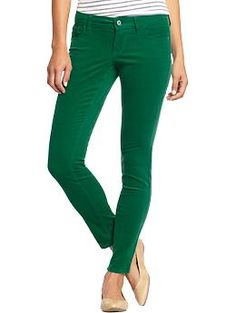 Women's Pop-Color Rockstar Cords   Old Navy  Just bought for fall and love the fit