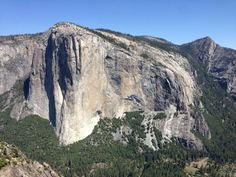 Unique view of El Capitan from Higher Cathedral Spire.