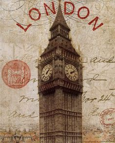 LOOOOVE this! 'Letter from London' print by Wild Apple Studio