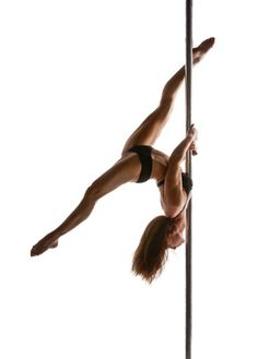 I just started pole fitness and eventually want to be able to do this it looks cool! Takes so much muscle! #feeling motivated