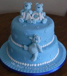 Cute boy christening cake