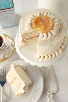 Earl Grey Cake with Vanilla Bean Buttercream - Recipe Easy Dessert