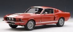 AmiAmi [Character & Hobby Shop] | Diecast Model Car 1/18 Red/ White Stripe Shelby Mustang GT500 1967(Back-order)