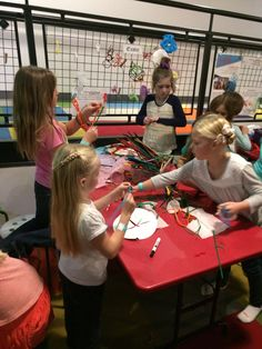 The Found Art Tables are full of different craft and art supplies. This week they are set up to make crowns, flowers, sea creatures, and more!