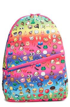 5e9c44b77e44 Now this is a backpack your kid will love!  Emoji  Neoprene Backpack from