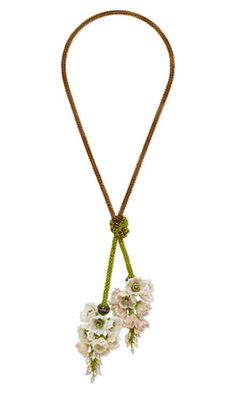 Lariat-Style Necklace with Seed Beads, Cultured Freshwater Pearls and SWAROVSKI ELEMENTS