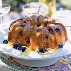 I made this lemon-blueberry poppy seed cake for Easter brunch!