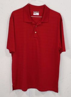 Grand Slam Performance Air Flow Mens Maroon Red Short Sleeve Polo Shirt XXL #GrandSlam #PoloRugby